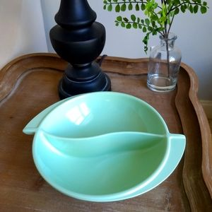 Space Age BOONTON Divided Bowl Melmac Green